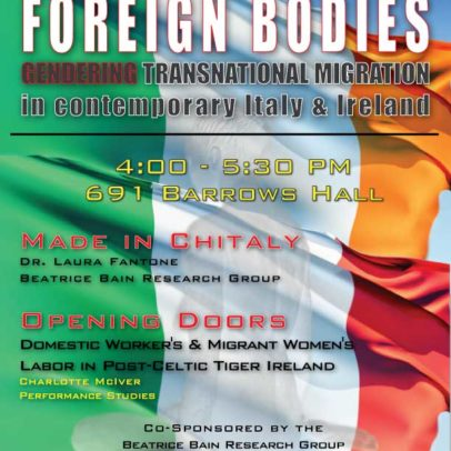 Foreign Bodies: Gendering Transnational Migration in Contemporary Italy and Ireland