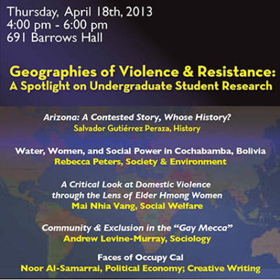 Geographies of Violence & Resistance: A Spotlight on Undergraduate Research