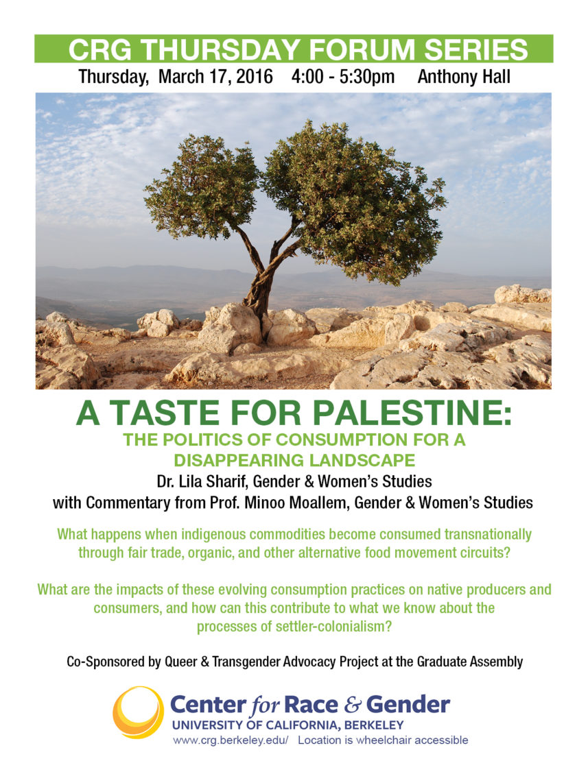 A Taste for Palestine: The Politics of Consumption for a Disappearing Landscape