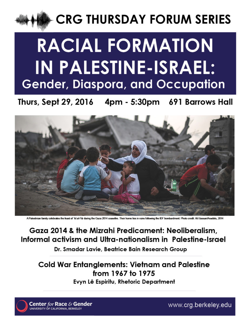 Racial Formation in Israel: Gender, Diaspora, and Occupation