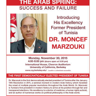 Lessons from the Arab Spring: Success and Failure!, Moncef Marzouki