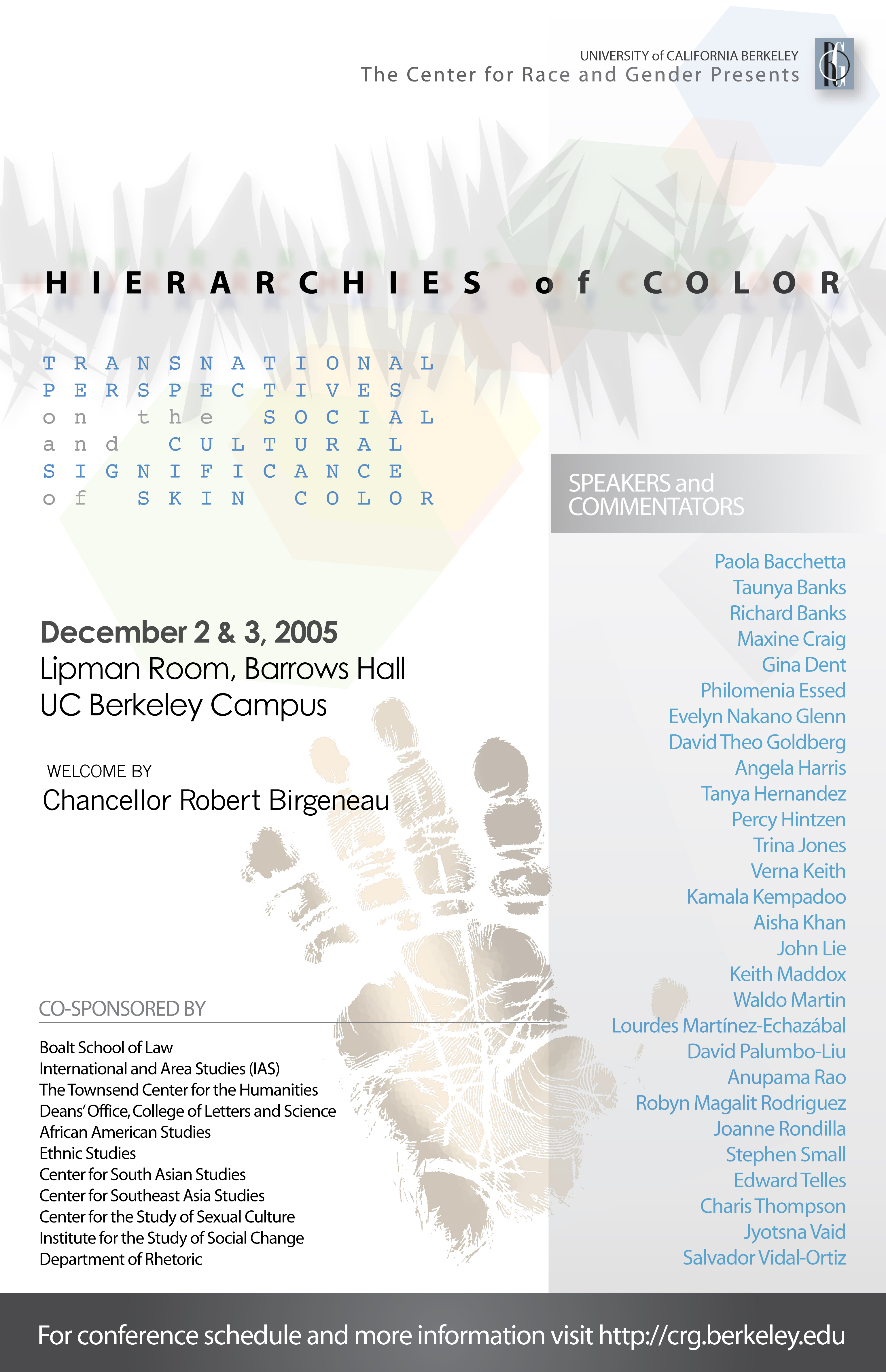 Conference Info – HIERARCHIES OF COLOR CONFERENCE
