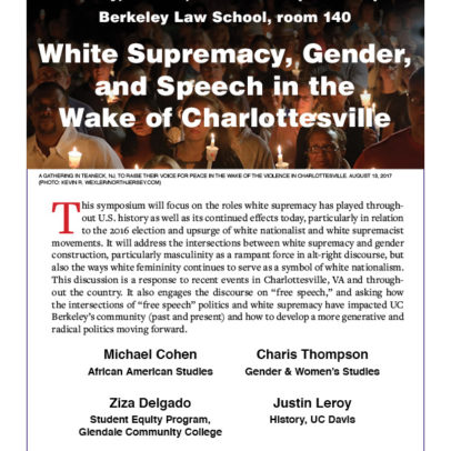 White Supremacy, Gender, & Speech in the Wake of Charlottesville